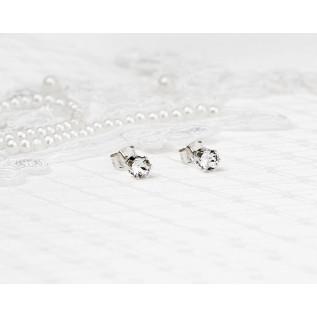 Bijou de dos sur fil nylon et plaqué argent composé de boules incrustées de strass Swarovski et de perles rondes en cri