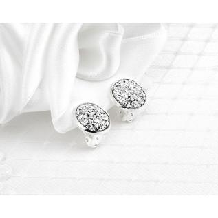 B oucles d'oreilles sur sur clous et plaqué rhodium* composées de pendentifs en zirconium haute qualité (cubic zirconia